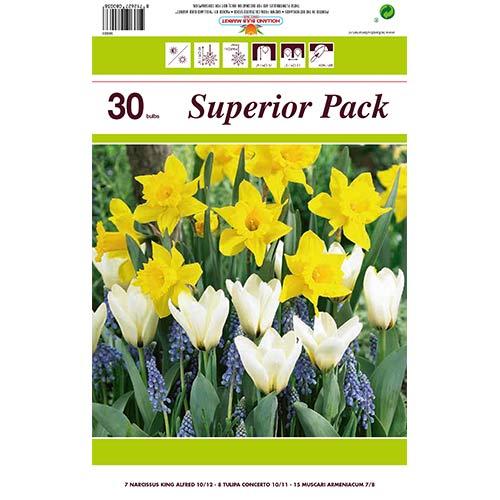 Super ponuka! Sada narcisov, modrencov a Greigov tulipán z 30 cibuliek изображение 1 артикул 67902